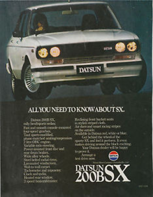 How the humble Datsun 200B's fortunes have changed.......... now $22,000