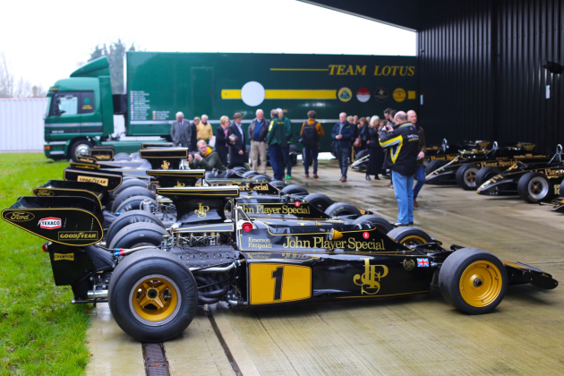 The largest collection of Lotus JPS F1 cars in one place