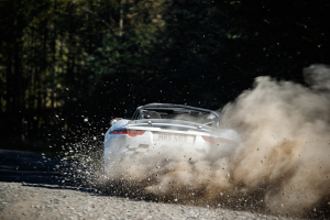 Jaguar have a look at Rallying, with an F-Type !
