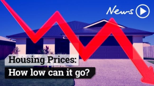 Melbourne House Prices fall